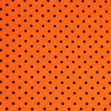 Knit Orange with Small Black Dots
