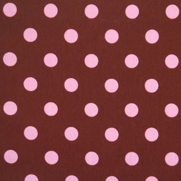 Knit Pink Dots on Brown