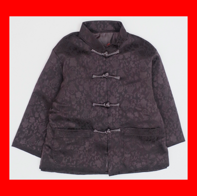 CouCou Chinese Coat (Fish)(企領長袖唐服)(Black) - TA-DA!