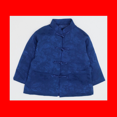 CouCou Chinese Coat (Dragon)(企領長袖唐服)(Blue) - TA-DA!