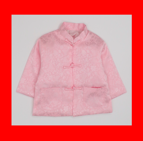 CouCou Chinese Coat (Fish)(企領長袖唐服)(Pink) - TA-DA!