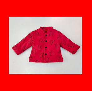 CouCou Chinese Coat (Dinosaur)(Red) - TA-DA!
