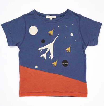 Wisteria Baby T Shirt, Navy Rocket