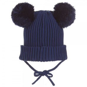 Panda Ear Hat (Navy / Black)