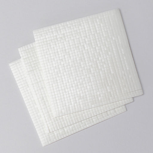 3x3mm Double Sided Adhesive Pads - White 2mm Pack of 3