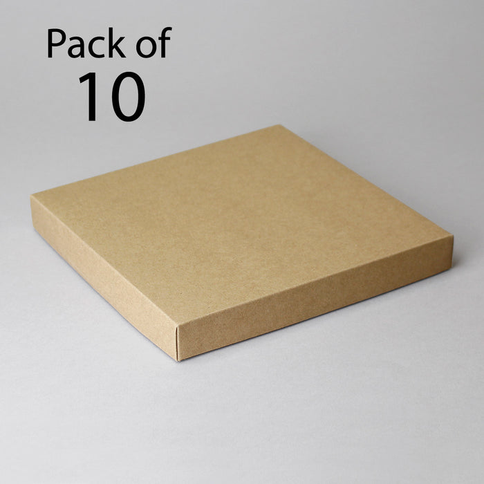 Card Boxes 196x196x25mm Kraft Card Box Pack of 10