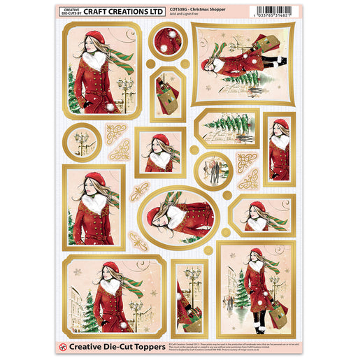 Die Cut Toppers - Christmas Shopper (Pack of 6)