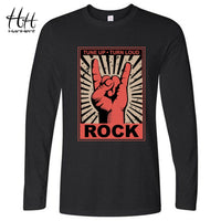Rock and Roll Long T-shirt - dBHeard Enterprise Conglomerate Llc