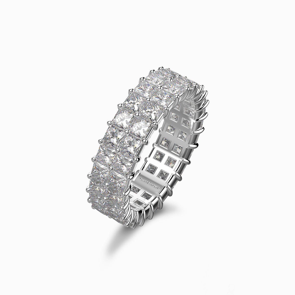 Shimansky my girl double row full eternity ring platinum