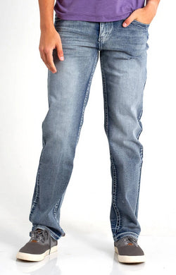 True Luck Jeans Lawton Straight Leg Jeans for Men in Full Blast