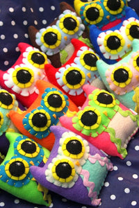 Custom Made Little Owling - Eco-Friendly Felt Plush Owl in Your Choice of Colours