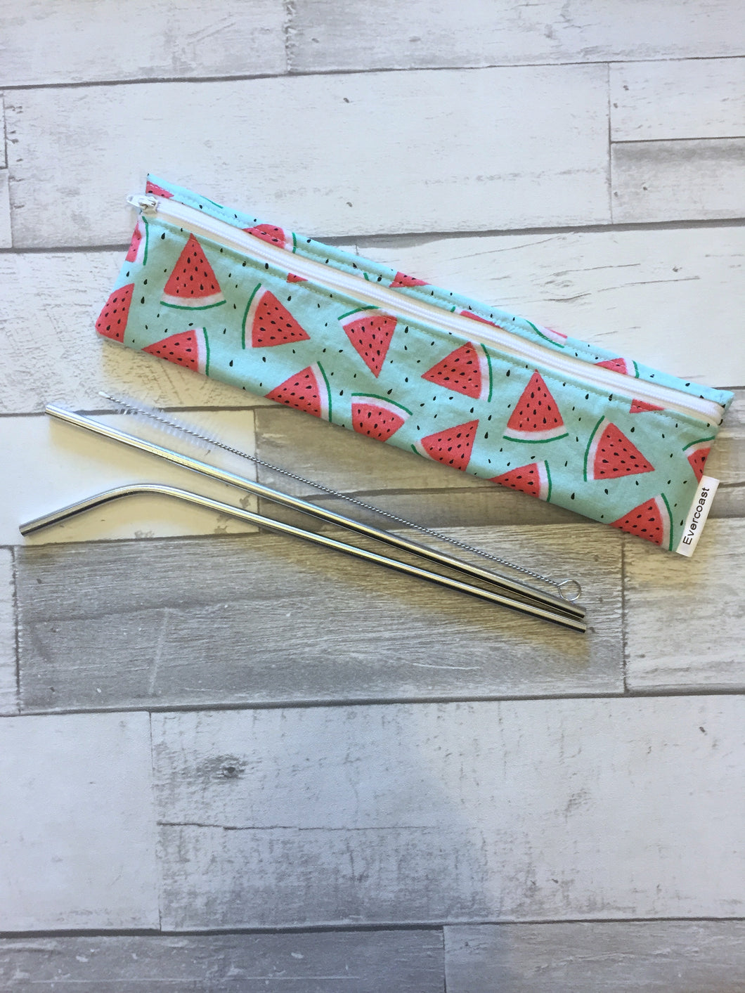 CUSTOM ORDER - Reusable Straw/Utensil Bag