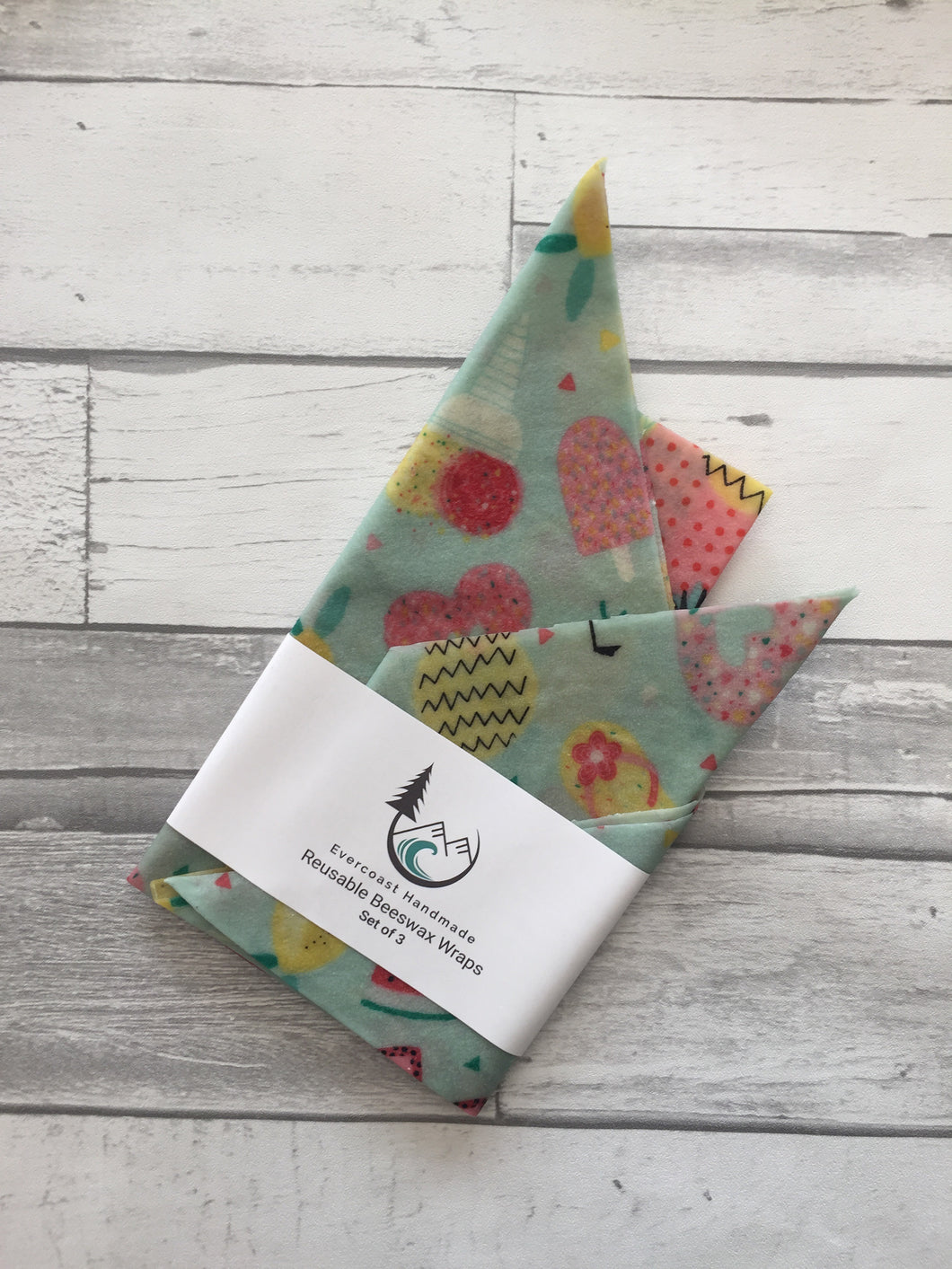 Summer Fruit Beeswax Wraps – Classic Set of 3