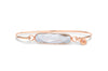 Rose Gold Bracelet Morganite Gemstone Bar