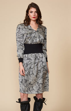 Leopard Swirl Baronial Dress