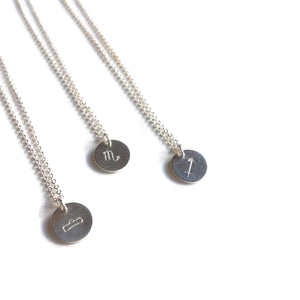 Sterling Silver Zodiac Charm Necklaces | Silver Astrology Necklace | Zodiac Gifts | Carla De La Cruz Jewelry