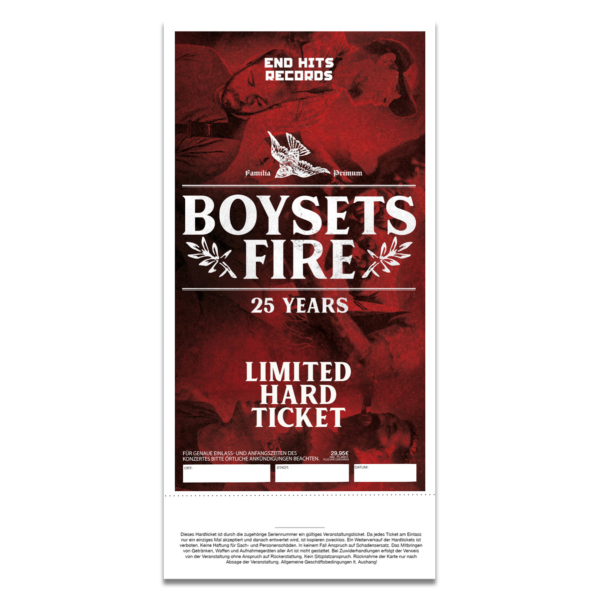 BOYSETSFIRE - 02.12.2019 DE, Hamburg @ Grosse Freiheit - Limited Hard Ticket