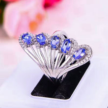 Load image into Gallery viewer, 2017 New Fashion Silver Tanzanite Ring