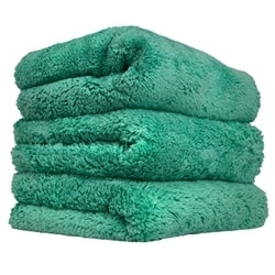 CHEMICAL GUYS GREEN HAPPY ENDING MICROFIBER TOWEL PACK OF 3