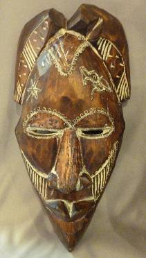 Bamileke Copper Mask