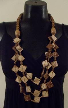 Coconut Shell Necklace Set