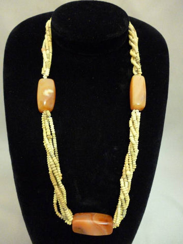Nigerian Coral Beaded Necklace