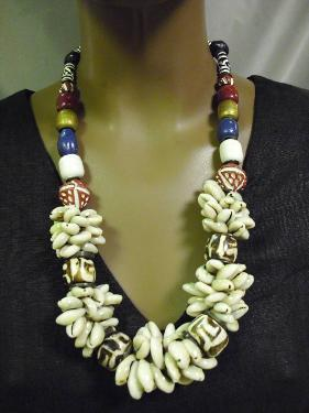 Antique Cowry Shell African Necklace