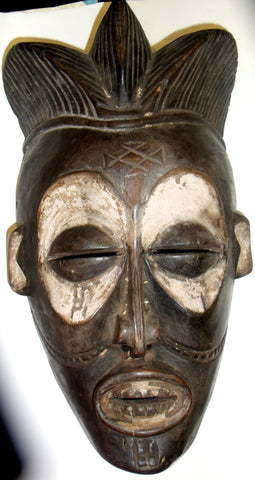 ANTIQUE CHOKWE CONGO/ANGOLA MASK