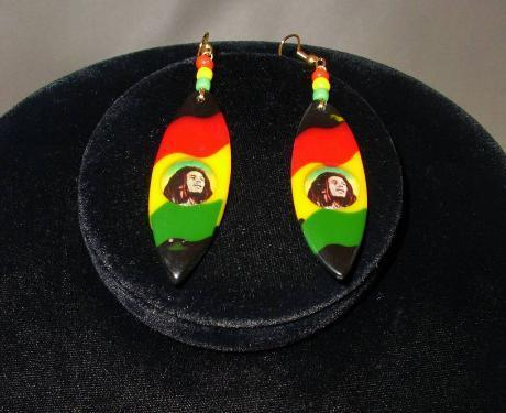 Bob Marley Earrings