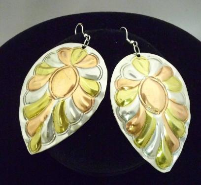 Cooper & Metal Leaf Earring