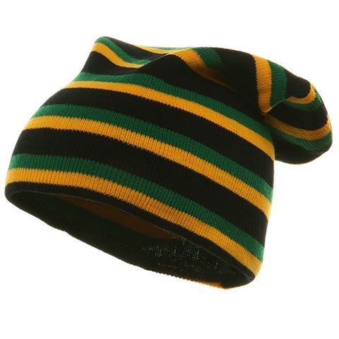 Rasta Long Beanies-Black YG