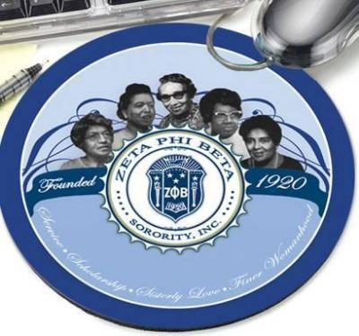 Zeta Phi Beta Founder Round Mousepad