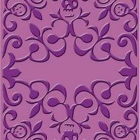 Closeout - Cuttlebug - A2 Embossing Folder -  Skeleton Scroll