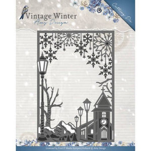 Amy Design - Dies - Vintage Winter Collection - Village Frame Straight