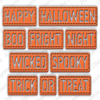 Impression Obsession - Dies - Halloween Stitched Words