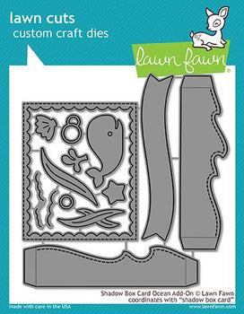 Shadow Box Card Ocean Add-On - Lawn Fawn