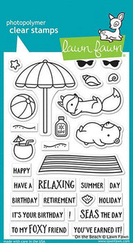 On the Beach stamps-Lawn Fawn