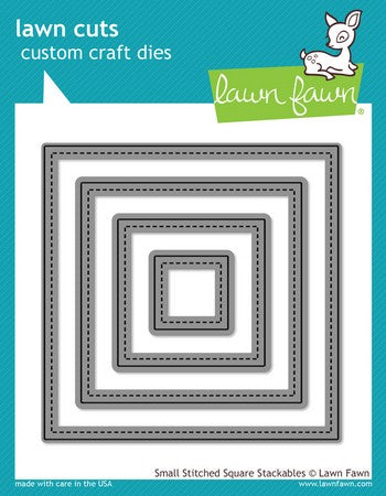 Lawn Fawn - Small Stitched Square Stackables Dies