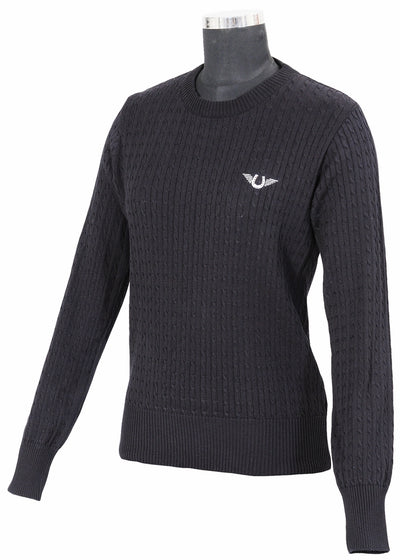 TuffRider Ladies Classic Cable Knit Sweater_2