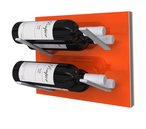 label-out wine rack - electric orange