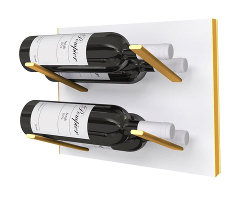 label-out wine rack - white & gold