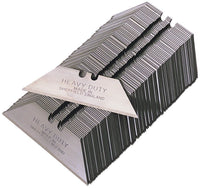 Heavy Duty Straight Blades, cellophane wrapped, MADE IN SHEFFIELD - box of 1000 blades