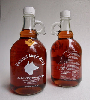 Maple Syrup in Liter Glass Bottle