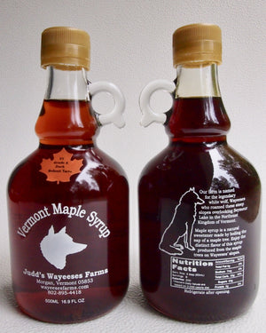 Maple Syrup in Half Liter Glass Bottle