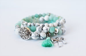 turquoise beaded gemstone bracelets