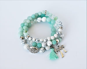 beaded gemstone bracelets