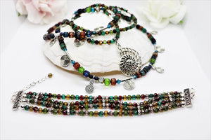 crystal beaded set