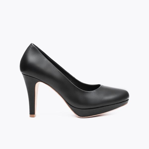 klassisk high heel - Sort