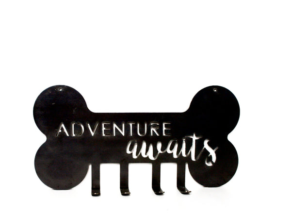 ADVENTURE AWAITS LEASH/KEY HANGER