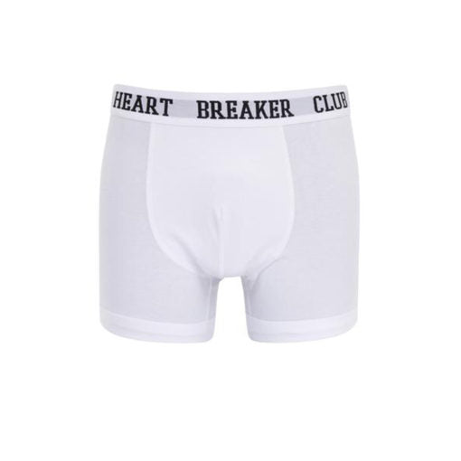 Heartbreaker Club Men's Signature Boxers in White